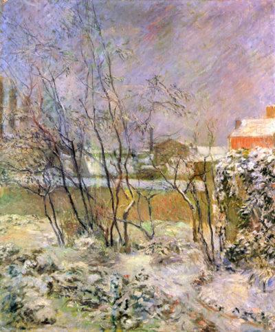 Paul Gauguin Snow in Rue Carcel