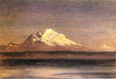 Albert Bierstadt Snowy Mountains in the Pacific Northwest