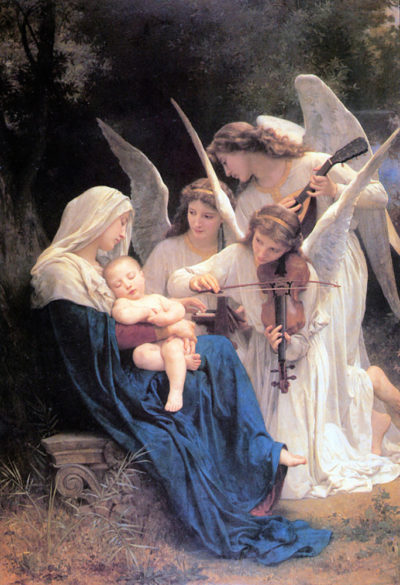 William-Adolphe Bouguereau Song of the Angels