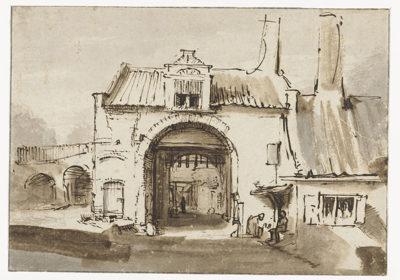 Rembrandt Harmensz. van Rijn City Gate