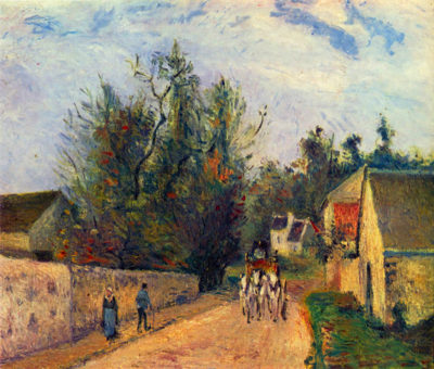 Camille Pissarro Stagecoach after Ennery