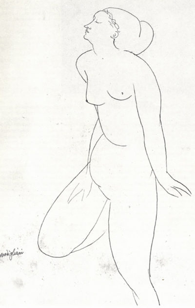 Amedeo Clemente Modigliani Standing Nude
