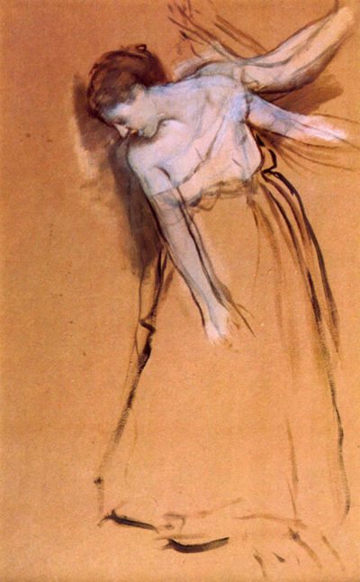 Edgar Degas Standing with arms stretched