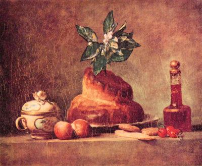 Jean Chardin Still Life with Brioche