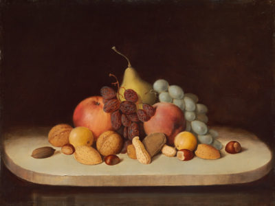 Robert S. Duncanson Still Life with Fruit and Nuts