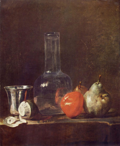 Jean Chardin Still Life with Glass and fruits