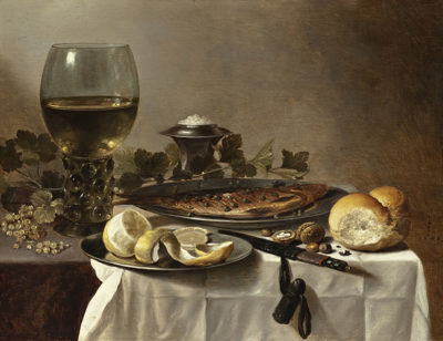 Pieter Claesz. Still Life with Herring