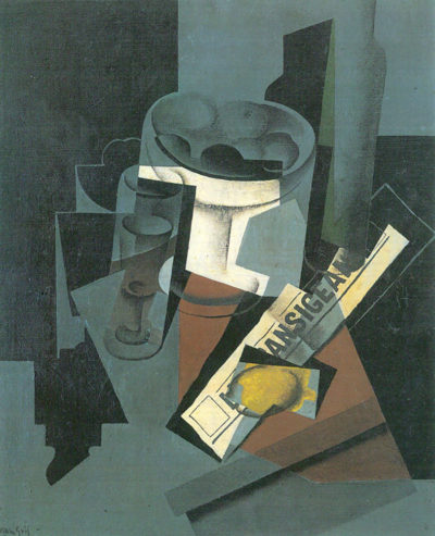 Juan Gris Still Life with Newspaper
