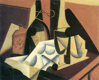 Juan Gris Still Life with a white tablecloth