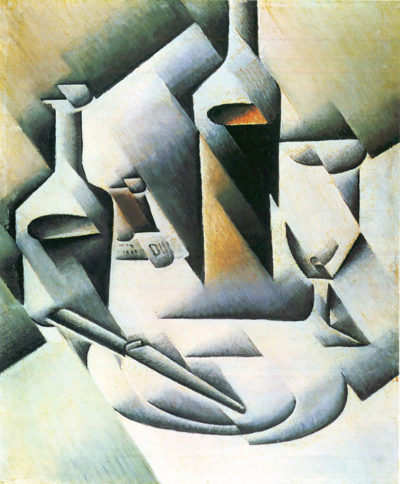 Juan Gris Still Life with bottles and knives