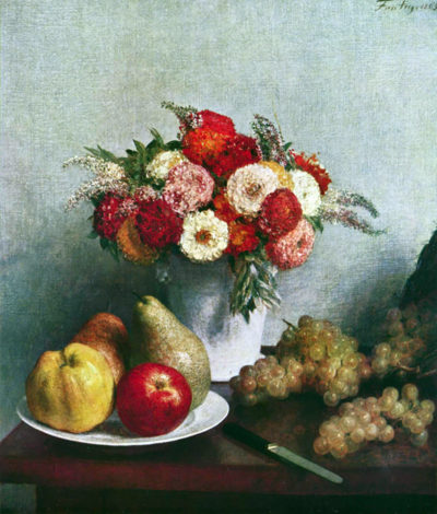 Henri Fantin-Latour Still-life with flowers and fruit