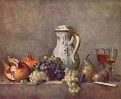 Jean Chardin Still life with porcelain jug
