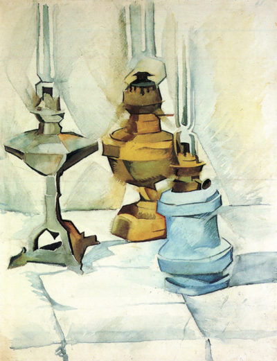 Juan Gris Still life with three lamps