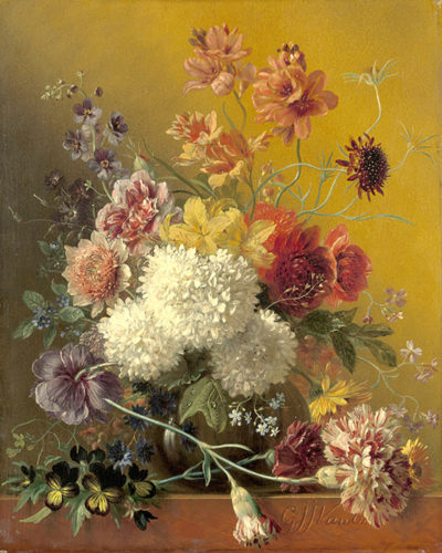 Georgius Jacobus Johannes van Os Still Life with Flowers