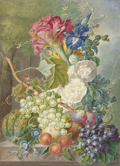 Jan van Os Still Life with Flowers and Fruit