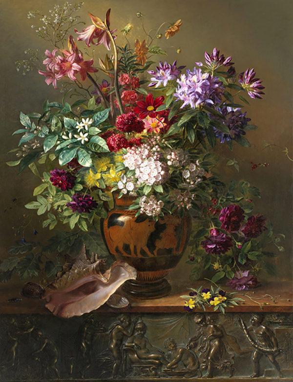 Georgius Jacobus Johannes van Os Still Life with Flowers in a Greek Vase: Allegory of Spring