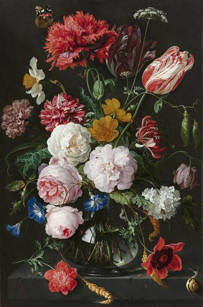 Jan Davidsz. de Heem Still Life with Flowers in a Glass Vase