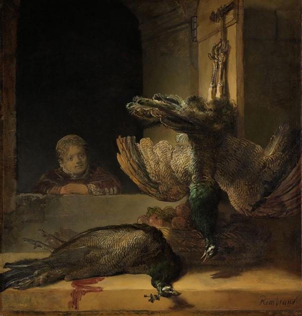 Rembrandt Harmensz. van Rijn Still Life with Peacocks