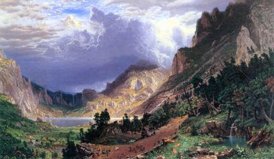 Albert Bierstadt Storm in the Rockies