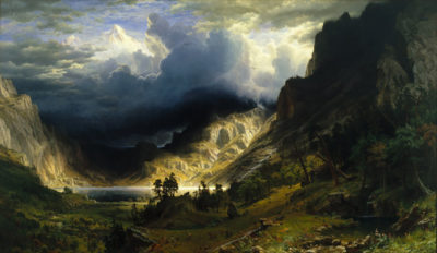 Albert Bierstadt Storm in the Rocky Mountains