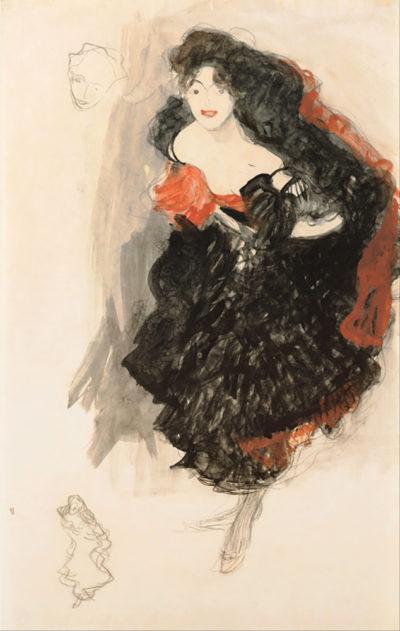 Gustav Klimt Study for Judith II