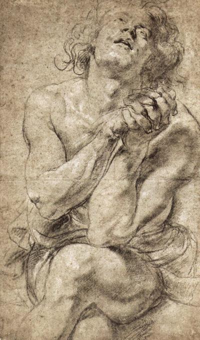 Peter Paul Rubens Study of Daniel in the lion's den