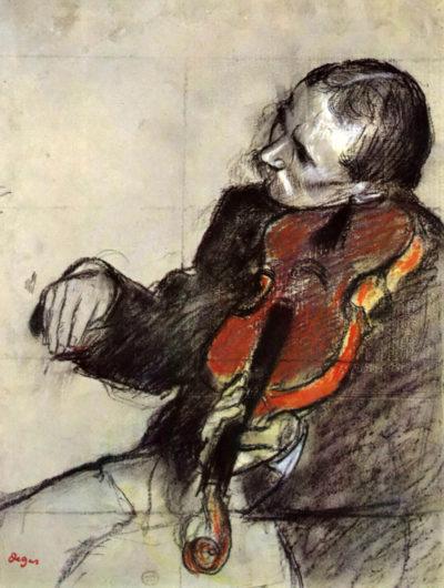 Edgar Degas Study of violinist