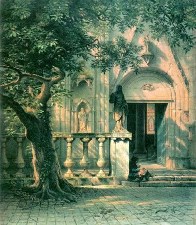 Albert Bierstadt Sunlight and Shadow