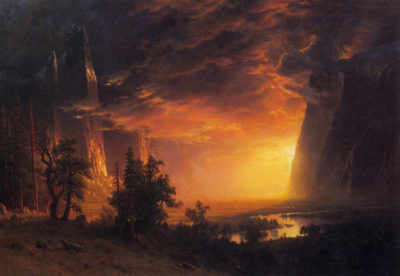 Albert Bierstadt Sunrise in Yosemite Valley