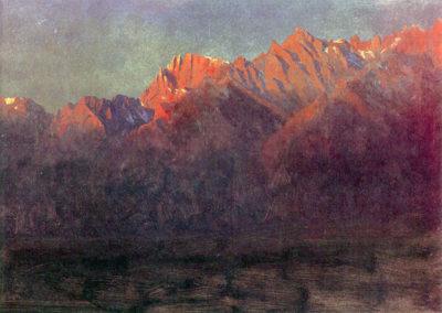 Albert Bierstadt Sunrise in the Sierras