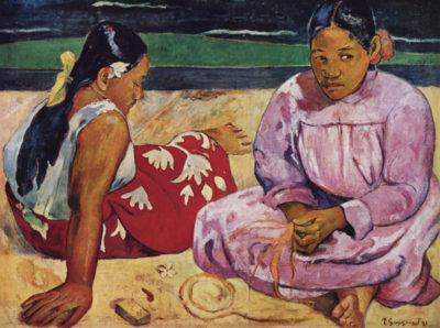 Paul Gauguin Tahitian Women on Beach