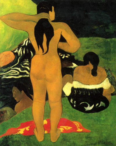 Paul Gauguin Tahitians on Beach