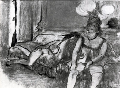 Edgar Degas Taking a rest