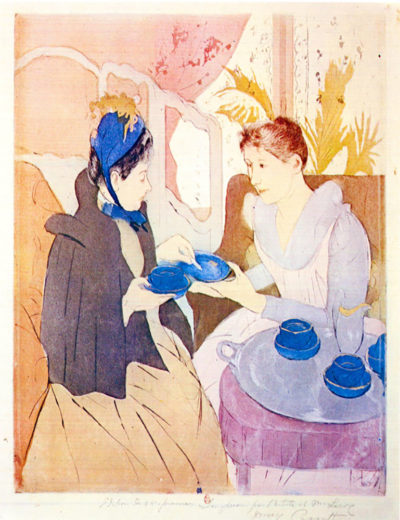 Mary Cassatt Tea in the afternoon