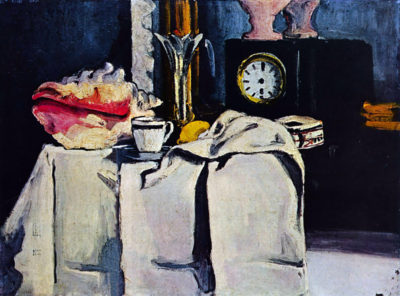 Paul Cézanne The Black Marble Clock