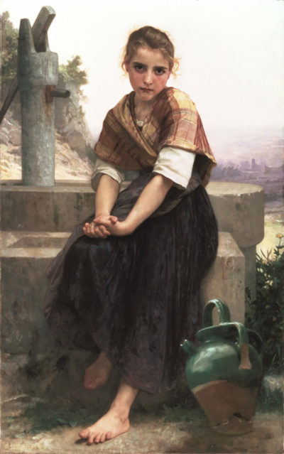 William-Adolphe Bouguereau The Broken Pitcher