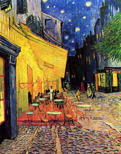 Vincent van Gogh The Cafe Terrace on the Place du Forum Arles at Night