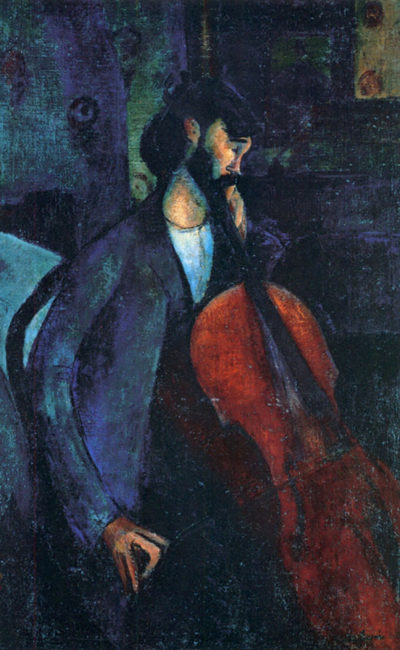 Amedeo Clemente Modigliani The Cellist