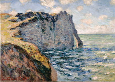 Claude Monet The Cliff of Aval at Etretat