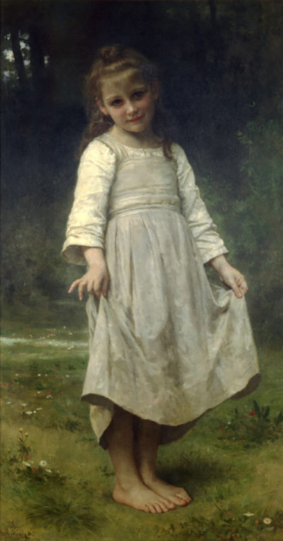 William-Adolphe Bouguereau The Curtsey
