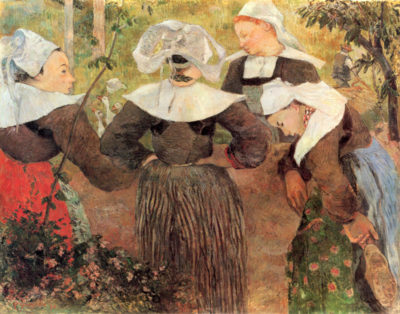 Paul Gauguin The Dance of 4 Women of Breton