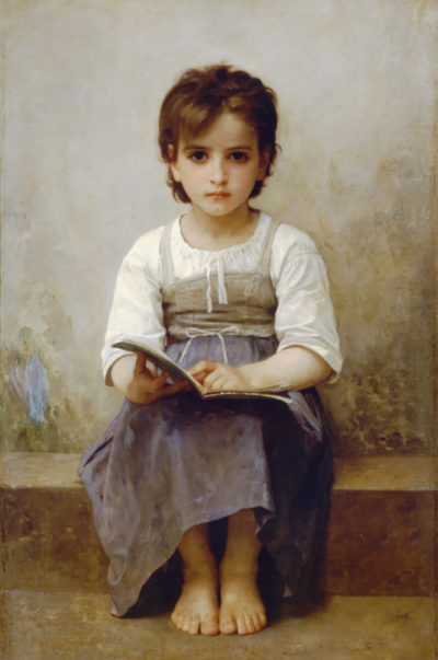 William-Adolphe Bouguereau The Difficult Lesson
