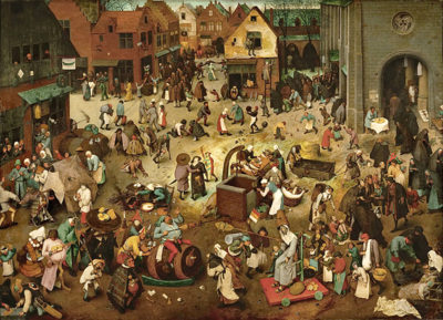 Pieter Bruegel de Oude The Fight Between Carnival and Lent