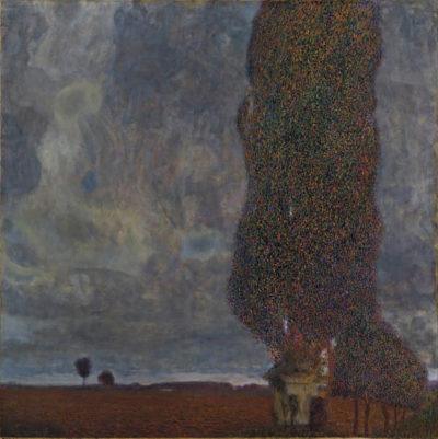 Gustav Klimt The Great Poplar II (Thunderstorm gets up)