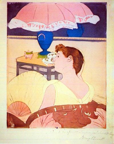 Mary Cassatt The Lamp