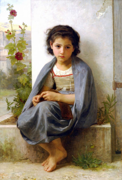 William-Adolphe Bouguereau The Little Knitter