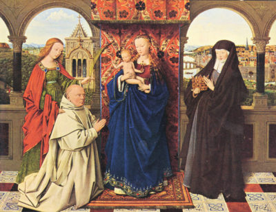 Jan van Eyck The Madonna with the Carthusians