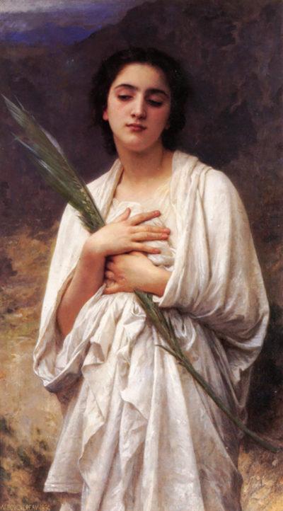 William-Adolphe Bouguereau The Palm Leaf