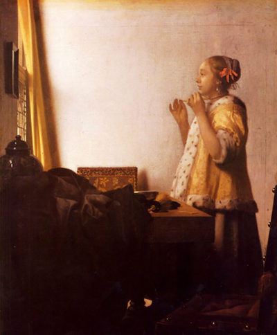 Johannes Vermeer The Pearl Necklace
