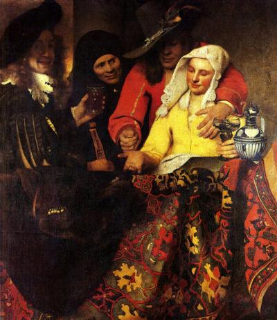 Johannes Vermeer The Procuress